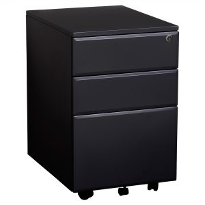 Summit YSMMP Lockable Mobile Pedestal Black