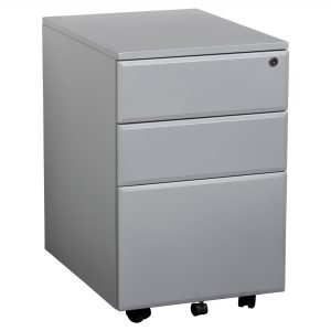 Summit YSMMP Lockable Mobile Pedestal Silver
