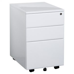 Summit YSMMP Lockable Mobile Pedestal White