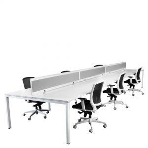 Ventura V6p157SC 6 Person Complete Desk Combination