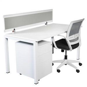 Ventura VD157SC Single Complete Desk with Screen